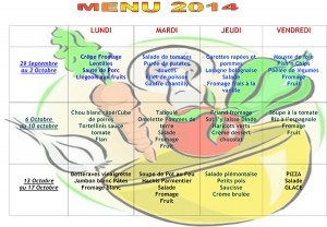 Menu Octobre 2014