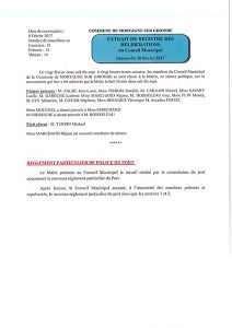 Règlement de Police du Port