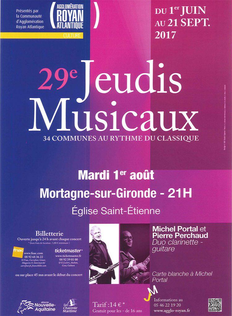 Jeudis Musicaux 2017 à Mortagne